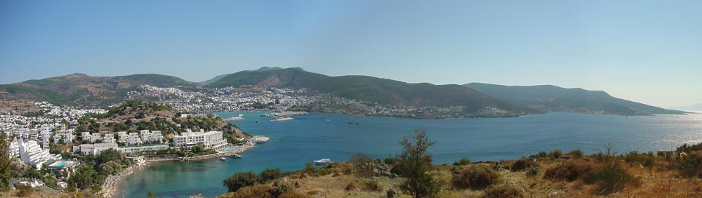 Supra België - Panoramic view of Bodrum from the Ancient Windmills