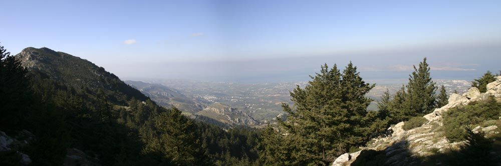 To the top of the Dikaios - A very nice panoramic view .