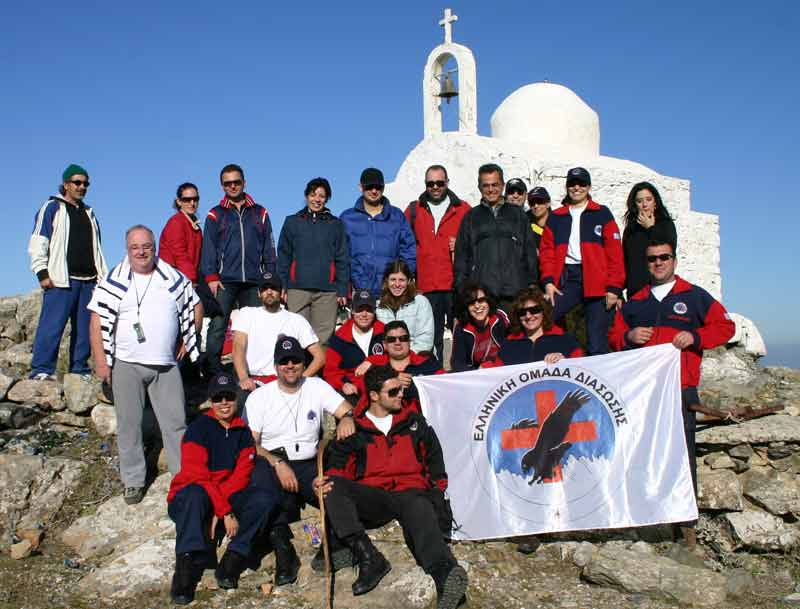 On the top of the Dikaios - The rescue team of Kos, on the top of the Dikaios.