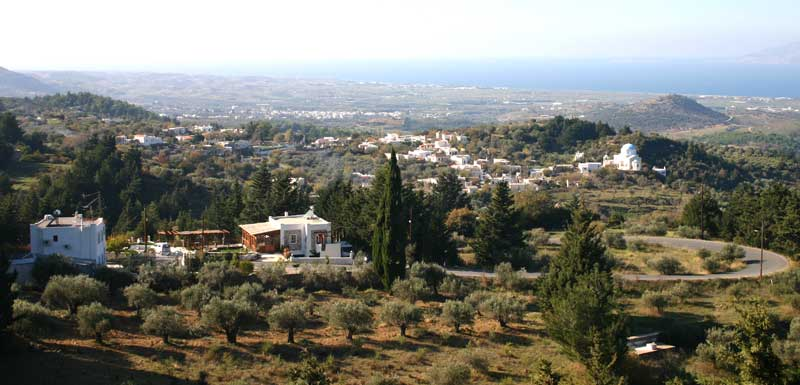 The view of Lagoudi settlement from Zia