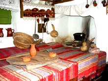 View of the inside of the Traditional House at Pyli
